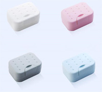 Wholesale plastic carry covers for sale - Group buy Travel hiking soap box hygienic holder easy to carry soap box bathroom dish shower cover soap organizer