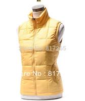 ingrosso giacca gialla delle signore-Gilet elegante senza maniche della donna. Gilet elegante. Gilet elegante