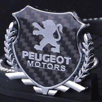 insignias peugeot al por mayor-Peugeot Gestor 406 3008 308 508 607 505 407 Gran Raid metal del coche de la aleación de fibra de carbono insignia del emblema del tronco Fender puerta de la etiqueta engomada