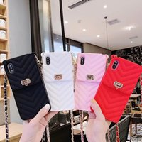Wholesale cc cases online – custom Luxury CC wallet card holder case for iphone xs max xr x card slot silicone cases for iphone s plus