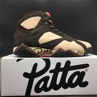 sapatos de basquetebol de edição limitada venda por atacado-Edição limitada! Mens tênis de basquete 7 s multi-cor costura mais recente designer de moda rua calçados esportivos tamanho 7-13