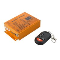 Wholesale motorcycle radio mp3 player for sale - Group buy KKmoon Motorcycle Alarm System MP3 Player Speakers Audio Sound System FM Radio Security Wireless Remote with USB SD Slot