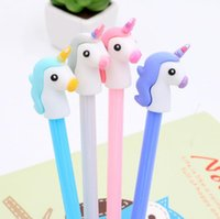 Wholesale art limited for sale - Girl Heart Cartoon Unicorn Student Writing Pen Office Eexamination Limited Office Material School Supplies SN2828