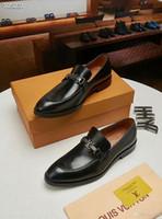 ingrosso marrone scarpe formali nuove-18ss nuovo arrivo italiano fatto a mano in vera pelle uomo marrone formale scarpe ufficio affari abito da sposa mocassini scarpe