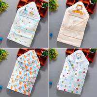 bolsa de dormir para bebé colcha al por mayor-Mezcle 15 estilos de manta de bebé Verano nuevo algodón de dibujos animados edredón recién nacido Sacos de dormir Toallas de baño para bebés manta de diseño delgado Edredón Swaddling