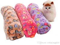 флисовые размеры оптовых-Одеяло для собаки Коралловый флис Pad Multi-size Мягкий коврик Многоцветный щенок Одеяло Теплый удобный коврик для дома Кровать для домашних животных A02