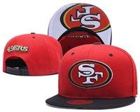 fãs de bonés de bola venda por atacado-Chegada Nova SF 49er Snapback Red Cor bordado Logo marca esportiva de Foot Ball Fan Hip Hop Adjustable Caps Moda Hat