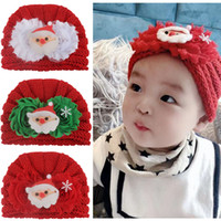 Wholesale skull flower designs for sale - Group buy 17 designs baby girls crochet caps for christmas x mas tree Santa Claus flower snowman deco knitting cap for toddler infant kids