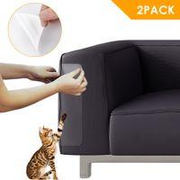 ingrosso custodie in pelle-47x15CM 2pcs / lot Couch Scratch Guard autoadesive divano mobili Claw Protector Sticker Pad per sedie di pelle