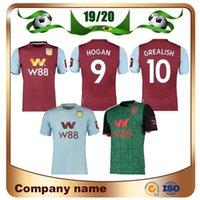 villa fußball groihandel-19/20 Aston Villa Wesley-roter Fußball Jersey 2020 Auswärts WESLEY Grealish McGinn HUTTON EL-Fußball-Hemd KODJIA 3. Fußball-Uniform