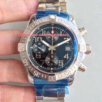 мужские роскошные часы завод оптовых-2 стиля Luxury Best Edition Top Factory 43 мм х 16,5 мм Super Avenger II хронограф швейцарский ETA 7750 Механизм автоматические мужские часы Часы
