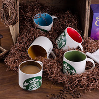Wholesale starbucks porcelain coffee mugs for sale - Group buy starbucks cup Vintage porcelain mug Flower Tea Set Coffee Cup Water Milk Coffee Drinkware Gift