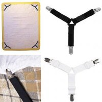 Wholesale wholesale beds mattresses for sale - 4pcs set Bed Sheet Mattress Holder hang hook Triangle Fastener Grippers Clips Suspender Straps home tools FFA1616