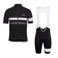 ciclismo bib set xs venda por atacado-2019 Rapha verão homens de manga curta ciclismo camisa moto usar roupas bib SET MTB uniforme PRO ciclismo roupas bicicleta Maillot Culotte luzeda