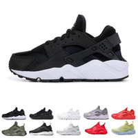 Wholesale stripe shoe fashion resale online - new fashion Huarache Running Shoes Men Women Top Quality Stripe Balck White Oreo Sport Shoes Designer Sneakers Trainers