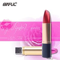 Wholesale u disk shaped resale online - Fashion Girl Pen Drive Woman U Disk Metal Lipstick Shape Genuine gb gb gb gb gb Usb Flash Lady Memory Sticks