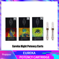 vape schrauben großhandel-Eureka High Potency Cartridge 1.0ml 1 Gramm Keramikspule Klar Tank Vape Vaporizer G5 Schraubenkarren für dickes Öl mit Aroma Verpackungsbeutel