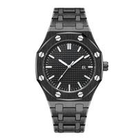 luxury watches venda por atacado-2019 Simples Mens Relógios Cool Luxury Relógios De Pulso À Prova D 'Água de Aço Inoxidável Moda Calendário Homens De Quartzo Relógio Atacado