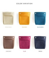 Wholesale felt cups online - Felt Handheld Cosmetic Bag Home Furnishing Impurity Storage Fashion Pure Color Speedy Bags Pocket Change Multicolor Optional dcC1