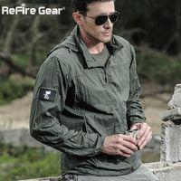 89988b301a5 Tactical Lightweight Waterproof Jacket Men Summer Breathable Thin Hoody Raincoat  Military Portable Windbreaker Army Skin Jackets