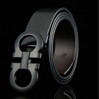 nuevos cinturones de diseño al por mayor-Ferragamo belt cinturón de diseño cinturones de negocios importa realmente cuero moda 8 hebilla cinturón Cinturón de hebilla de aleación de zinc
