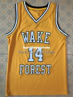 9c82a943c  14 Tyrone Bogue Wake Forest Demon Deacons college Basketball Jersey All  Size Embroidery Stitched Customize any name and name XS-6XL vest Je