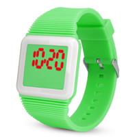 Wholesale glasses watch for children resale online - 2019 Hot Electronic Digital LED Silicone Watch Wristwatch Bracelet For Children Kids Relogio de estu