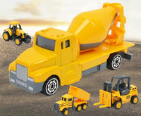 juguetes de revistas al por mayor-Nuevo 2019 juguetes educativos para niños excavadora modelo de coche de aleación deslizante juguete para niños mini simulación ingeniería coche set d33
