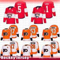 hokey formaları panter formaları toptan satış-Philadelphia Flyers Hockey Jersey 17 Wayne Simmonds Claude Giroux Shayne Gostisbehere Voracek Florida Panthers 5 Aaron Ekblad Roberto Luongo
