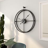 büyük duvar saati sessiz toptan satış-Ücretsiz kargo 55 cm Büyük Sessiz Duvar Saati Modern Tasarım Ev Dekor Ofis Avrupa Tarzı Asılı Duvar İzle Için saatler Saatler