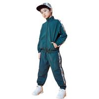 ingrosso vestiti di ballo di hip hop dei ragazzi-Moda bambini Jazz Dance Costume Boy Hip Hop pratica abbigliamento da ballo Street Rave vestiti per bambini Modern Dancing Outfit DC1078