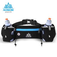 Wholesale waist phone holder for running resale online - AONIJIE Marathon Jogging Cycling Running Hydration Belt Waist Bag Pouch Fanny Pack Phone Holder For ml Water Bottles