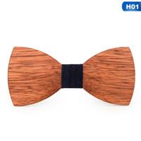 cravates pour les femmes achat en gros de-New Wood Bow Tie Mens Cravates En Bois Partie Business Papillon Cravate Cravates Partie Pour Hommes En Bois Femmes Enfants