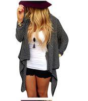 ingrosso cardigan donna maglioni-Cardigan lavorato a maglia femminile Cardigan femminile femminile Solido sueter irregolare Cardigan in lana a maniche lunghe Cappotto maglione outwear LJJA2824