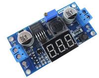 medidor de pasos al por mayor-5V a 12V, 12V a 24V, 5V a 24V de corriente continua DC módulo- LM2596 bajada del convertidor de potencia con tensión LED pantalla del medidor