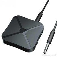 tv bluetooth adaptörü toptan satış-2 Kulaklık Ev Televizyon MP3 PC araba için TV 3.5mm AUX Bluetooth Adaptörü 1 Kablosuz Bluetooth 4.2 Ses Alıcı Verici İÇİNDE