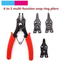 Wholesale snap pliers resale online - 1 Set in Multi function Circlip Pliers Snap Ring Pliers Multi Crimp Tool Internal External Ring Remover Retaining