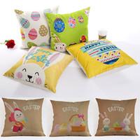 cobertura de coelho venda por atacado-Coelho da páscoa Egg Pillow Covers Capa de Almofada Glamour Quadrado Fronha Capa de Almofada Home Office Sofá Decoração Do Carro WX9-1267
