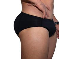 aumentar la ropa interior al por mayor-Mejora de la marca Para Hombre Ropa Interior Calzoncillos Sexy Bulge Gay Penis pad Volver Magal nalgas Doble Inolvidable Push Up Copa