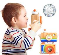 jouets de fille en bois achat en gros de-En bois Mini Caméra Kaleidoscope enfants jouets Enfants Chambre Enfants Suspension Décoration Jouet pour Garçons Filles cadeaux de noël