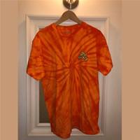 ingrosso camicie arancioni-Travis Scott X R eeses Pffs Orange Tie Die Tee Uomo Donna Summer Style 2019 ASTROWORLD TRAVIS SCOTT t-shirt