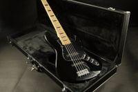 Wholesale guitar online - 5 Strings Jazz Electric Bass Guitar BlackColor Maple Fingerboard Black Pickguard