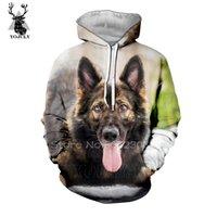 chien de soie achat en gros de-German Shepherd Dog hoodies sweat à capuche hommes peep lil soie automne / hiver sweat-shirt de hip-hop 3D Harajuku sweat-shirt streetwear haut A22