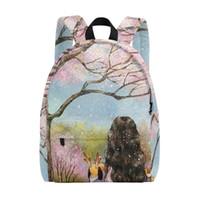 рюкзак школьный с рисунком оптовых-Женщины сумка рюкзак Принцесса девушки шаблон школьной книги сумки мини рюкзаки для девочек дорожные сумки для женщин розовый холст рюкзак