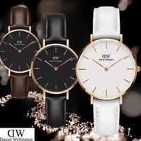 relógio de marca prata venda por atacado-féminine marca de alta qualidade senhora relógio mulher simples relógio de prata elegante elegante 32 MM mulheres de aço inoxidável relógio de quartzo DanielWellington