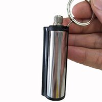Wholesale metal oil matches for sale - Group buy 2018 New Fashion Permanent Match Striker Rectangular Lighters with Key Chain Silver Worldwide Matchstick Oil Lighter Match Lighter