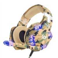 Wholesale 2.5mm 3.5mm headphone resale online - Led mm Earphone Gaming Headset With Microphone Mic Gamer Pc Ps4 Game Stereo Gaming Headphone With Microphone For Computer J190506