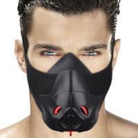 treinamento de máscara esportiva venda por atacado-Friorange esportes máscara preta de fitness ciclismo exercício exercício anaeróbico resistência máscara de treinamento de fitness ao ar livre máscara de esportes