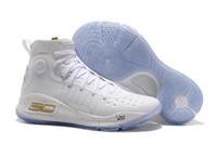mvp en gros achat en gros de-Chaussures de basket-ball Currys 4 hommes en gros Currys 4s Gold Championship MVP Finals Sports Sneakers formateurs Outdoor Designer Chaussures