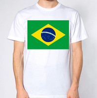 Wholesale hot countries flags for sale - Group buy Brazil New T Shirt Country Flag Top Brazil City Brazilian Map size discout hot new tshirt top t shirt